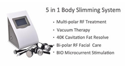 Wholesale 5in1 Ultrasonic Liposuction Machine - 5in1 Ultrasonic Liposuction Cavitation Vacuum Bipolar RF Slimming Machine BIO Face Skin Lifting Body Slimming Machine