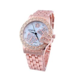 Wholesale Gold Watch Diamonds Cheap - Exquisite Luxury Women Ladies Gold Diamond designer Butterfly Quartz Dress Watch Wrist Watch Cheap watch part