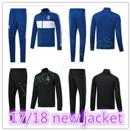 Wholesale Tracksuit Real - RONALDO soccet jacket 2017 2018 Real madrid jackets kits 17 18 ISCO BALE MODRIC JAMES KROOS tracksuit jacket Sweatshirt free shipping