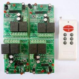 module de relais unique Promotion 8 Boutons RF sans fil commutateur Télécommande 4 PCS 2 CH Récepteur DC24V 433.92MHz