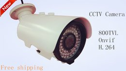 Wholesale Ccd Zoom Wireless - Free shipping new HD cctv camera H.264 1\3 CCD SONY 800TVL onvif manual 2.8~12 zoom waterproof outdoor security camera system