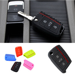 Wholesale Golf Mk7 Key - Car Accessories Key Case Key Bag Key Cover For Volkswagen for VW Golf 7 mk7 for Skoda for Octavia A7 Silicone Key Portect Case