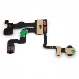 Fita iphone 4s on-line-Reparação consertar o mais novo sensor de luz de proximidade poder botão flex cable ribbon para iphone 4s