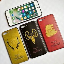 coffrets de téléphone Promotion Cas Jeu Thrones Daenerys Dragon Jon Snow tyrion lannister Téléphone Soft Case Fundas Pour iPhone7plus 6S Plus 8 Plus X