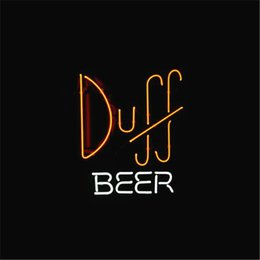 Wholesale Duff Neon - NEON SIGN For SIMPSONS DUFF Custom Store Display Beer Bar Pub Club Lights Signs Shop Decorate Real Glass Tube Bulbs