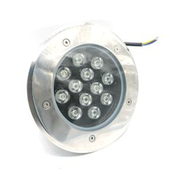 Wholesale Dc 12v Buried - Edison2011 Free DHL 12W LED Underground Light IP67 DC 12V AC85-265V Buried Recessed Floor Outdoor Lamp White Warm White Red Green Blue
