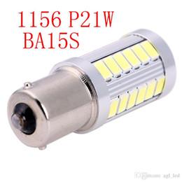Wholesale Single 12v Led Bulbs - LED Daytime Running Light 2nd Generation BA15s 33SMD LED Light Bulb Replacement ,Single Contact Bayonet Base