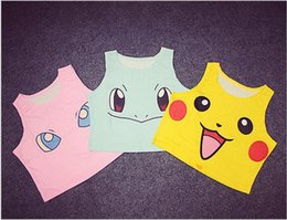 Wholesale Yellow Costumes Sailor Moon - 200Pcs Sexy Girls Cosplay Costume Women Poke mon Go Tanks Pocket Monster Sailor Moon Crystal Cute Vest Tank Tops Shirt