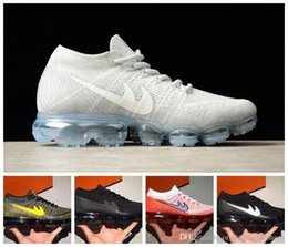 Wholesale Golf Shoes For Women - 2017 New Men Arrival VaporMaxes Mens Shock Racer Running Shoes For Top quality Fashion Casual Vapor Maxes Sports Sneakers Trainers