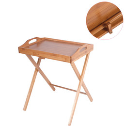Wholesale Portable Folding Tables - Folding Wood Portable Tray Table Stand TV Dinner Craft Snack Laptop Servicing