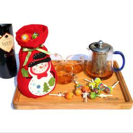 Wholesale Wine Christmas Ornament - Christmas gift bag Elf shape Bags For Candy wine bottle bag X-mas gift 1 lot=10 pcs