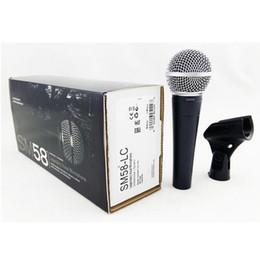 Micrófono solapa online-NUEVO EMBALAJE !! Nueva solapa !! 1 Unids Alta calidad SM 58 58LC Sonido Claro Micrófono con Micrófono de Karaoke Portátil de Mano