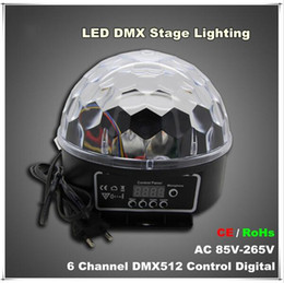 Wholesale Digital Lighting Control - new arrivals 6 Channel DMX512 Control Digital LED RGB Crystal Magic Ball Effect Light DMX Disco DJ Stage Lighting