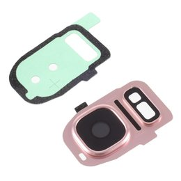 Wholesale Lens For Flashlight - For Galaxy S7 Lense OEM Camera Lens Ring + Flashlight Glass + Adhesive Sticker for Samsung Galaxy S7 G930   S7 edge G935 - Black