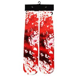 Wholesale Purple Abstract - Wholesale-2016 new Abstract art printed red white sock fashion sport basketball long Socks casual Skateboard socks women men 1pair unisex