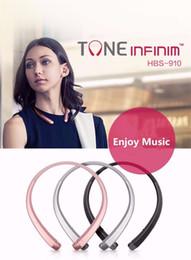 Wholesale Apple Earphones Package - HBS 910 HBS-910 Headphone HBS910 Earphone Sports Stereo Bluetooth 4.0 Wireless Headset Headphones With Package