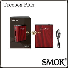 Wholesale Natural Mod - Authentic SMOK Treebox Plus TC MOD Made by Natural Brazil Rosewood 220W Max Output Powered by Two 18650 Batteries 100% Original