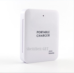 Wholesale Travel Mobile Emergency Charger - Powerbank Portable 4X AA Battery Travel Emergency USB Power Bank Charger for Mobile Phone Hgih Quanlity Wholesale