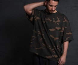 Wholesale Military Shirts Women - Military OVERSIZE BF wave brand, seven point sleeve, sleeve sleeve, T-shirt, camouflage, special width version, short tee, men and women
