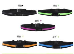Wholesale Men Women Cycling Sport Waist Bags Fitness gym Belt Fanny Pack Running waist Belt packs For Mobile Phone Mini yoga sport phone bag