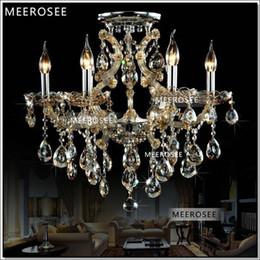 Wholesale Cognac Chandelier - Cognac 6 Lights Living Room lampadario Chandelier hanging lamp MD8477C D620mm H550mm