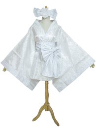 Wholesale Miku Kimono - Vocaloid Hatsune Miku White Lolita Kimono Cosplay Costume