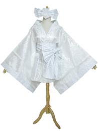 Wholesale Miku Cosplay White - Vocaloid Hatsune Miku White Lolita Kimono Cosplay Costume