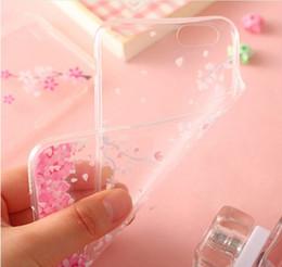 étui cerise pour samsung Promotion Cherry blossoms sakura téléphone gel cas pour iphone 7 6 6s plus doux TPU défenseur housse sakura protecteur housse 8 style GSZ124