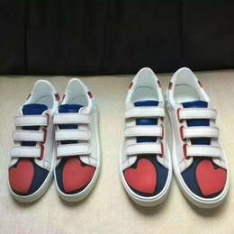 Wholesale Heart Shaped Hook - high quality!u639 40 41 42 43 44 genuine leather red heart shaped sneakers shoes blue casual tennis unisex couple lover men ladies blue