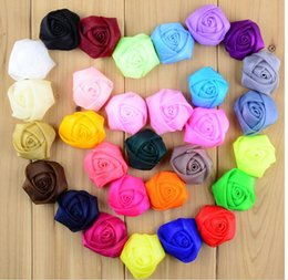 Wholesale Wholesale Yarns China - 30 color 4CM snow yarn perspective roses bud infant headflowers Children's headwear clothing accessories hot sale china wholesale E209