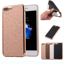 Wholesale Football Covers - Luxury Electroplating Football Grain Skin Leather Back Case For iPhone 7 7 Plus iPhone7 5.5inch Soft TPU Defender Cases Cover