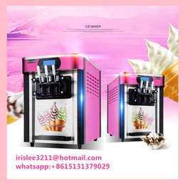 Wholesale Ice Cream Machines - Free shipping by DHL 2016 electric Ice cream maker Commercial Soft Ice cream machine 20L H Sundae Ice cream machine Yogurt machine