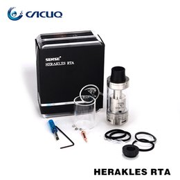 Wholesale Liquid Sense - Original Sense Herakles RTA Tank Black Silver 6ML Huge Vapor Adjustable Liquid Control System Sense Herakles Tank VS Wismec Theorem Tank