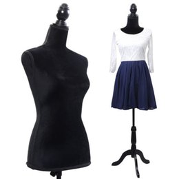 Wholesale Mannequin Dressed - Black Female Mannequin Torso Dress Form Display W  Black Tripod Stand New