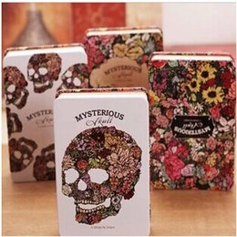 Wholesale Paper Note Books - Wholesale- 1pcs lot Novelty Mysterious Rose skull Notebook Angel & demon design diary copybook note book for journal agenda