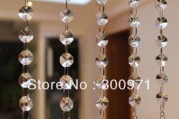 2019 ornamenti di vetro di vetro 18 pollici (45 cm) lungo, 5chains / lot, cristallo PRISM PENDENTE per APPENDERE CRISTALLO GHIACCIO FASCIA DI CERIMONIA, fili di cristallo, SHIPPIG GRATUITO