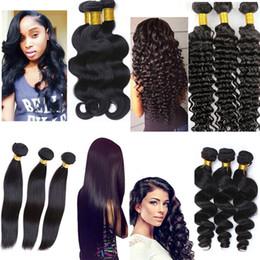Brezilyalı Saç atkı Virgin İnsan Saç Örgüleri Demetleri 8-34 inç Işlenmemiş Perulu Hint Malezya boyanabilir saç uzantıları supplier dyeable human hair wefts nereden boyanabilir insan saç atkıları tedarikçiler