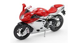 Wholesale Bicycle Diecast Toys - Figure Maisto mylch Agusta Agusta F41:12 simulation model of alloy toy motorcycle birthday gift Diecast Cars & Model Vehicle