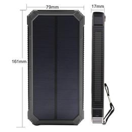 Wholesale Portable Backup Laptop Battery - Top 300000mAh Portable Solar Power Bank Dual USB LED Backup Charger Battery