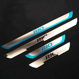 Wholesale Door Sill Kia - Stainless Steel Scuff Plate Door Sill Plate For KIA RIO K2 Sedan Hatchback 2014 2015 2016 2017 New Rio