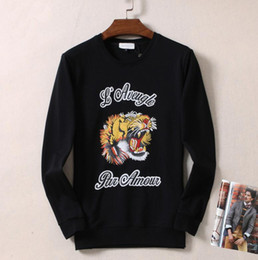 Wholesale Pops Rounding - High-quality city pop tide brand GUC supp aape suptiger head embroidery sweater new couple round neck printing long-sleeved jacket