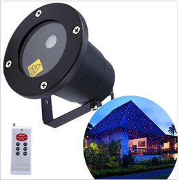 Wholesale Sky Light Green Laser - Waterproof Moving Twinkle laser Landscape light Sky star Green Red laser Projector stage light for outside garden lawn lights