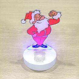 Wholesale Controller Led Radio - 3D Santa Claus USB Bluetooth Speaker FM Radio Music Led Lamp Smart Phone Controller Home Lighting Table Lampara For Christmas Gift