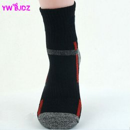 Wholesale Terry Towel Socks Men - Wholesale-2016 4Pcs=2Pairs Lot Thick cotton men's outdoor sports thermal towel bottom foot wear terry socks COOLMAX