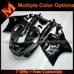 Wholesale Zx11 Fairings - 23colors+8Gifts black motorcycle cowl For Kawasaki ZX11R ZZR1100 1993-2001 ZZR1100 93 94 95 96 97 98 99 00 01 02 ABS Plastic Fairing