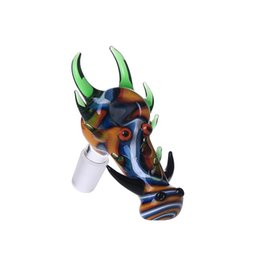 Wholesale Dragon Smoke - Smoking Dogo Wholesale Dragon Glass Bowls 14.4mm 18.8mm for Glass Water Pipes and Bongs Glass Bowl with Cool Color