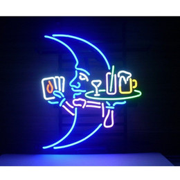 """Wholesale Display 14 - Blue Moon Waiter Glass Neon light Sign Beer Bar Store Party Display 17""""*14"""""""