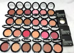 Wholesale blush mirror - 2017 FREE SHIPPING MAKEUP Lowest Shimmer Blush 24 color No mirrors no brus 6g English Name 10PCS B728