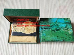 Wholesale Box Use - Free shipping High Quality Green Brand Watch Box Gift Boxes Used President 116234 116660 116610 LN 116710 Swiss ETA 3135 3255 7750 Watches