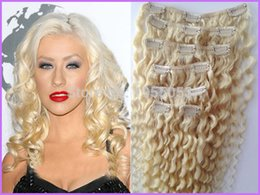 Curly blonde clip hair extensions canada best selling curly wholesale grade 7a unprocessed virgin mongolian clips hair 7pcs set mongolian kinky curly clip in hair extensions 60 platinum blonde hair pmusecretfo Images